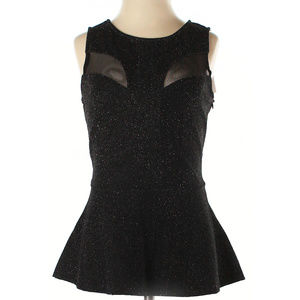 GUESS Black Sparkling Sleeveless Top - Size S NEW